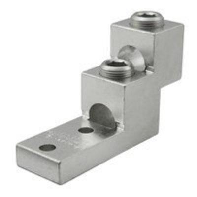Ilsco PB2-600 Ilsco PB2-600 Mechanical Panel Board Stack Lug Connector; 600 KCMIL - 2 AWG, 2 Hole Mount, 6061-T6 Aluminum Alloy, Electro Tin-Plated