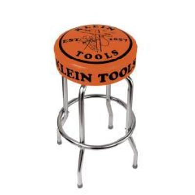 Klein Tools 98820 Klein Tools 98820 Counter Stool Orange Seat W Linemans Logo
