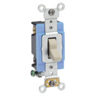 Leviton 1202-2I Leviton 1202-2I Toggle AC Quiet Switch; 2-Pole, 120/277 Volt AC, 15 Amp, Ivory