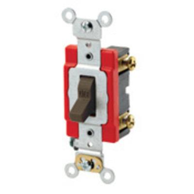 Leviton 1221-2W Leviton 1221-2W Extra Heavy Duty Specification Grade AC Quiet Toggle Switch; SPST, 120/277 Volt AC, 20 Amp, White
