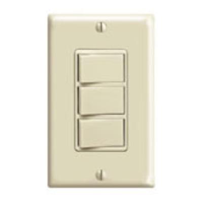 Leviton 1755-I Leviton 1755-I Decora® AC Combination Switch; 120 Volt, 15 Amp Switch, 20 Amp Total Device, 1-Pole, Non-Grounding, Ivory