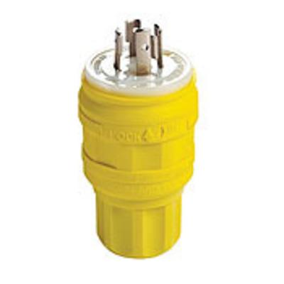 Leviton 26W74 Leviton 26W74 NEMA L14-20P Locking Plug Wetguard, Yellow