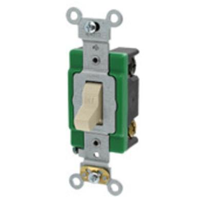 Leviton 3032-2I Leviton 3032-2I Toggle AC Quiet Switch; 2-Pole, 120/277 Volt AC, 30 Amp, Ivory