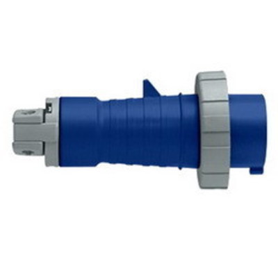 Leviton 420P9W Leviton 420P9W Watertight Pin and Sleeve Plug; 20 Amp, 250 Volt AC, 3-Pole, 4-Wire, 3 Phase, Screw Terminal, Blue