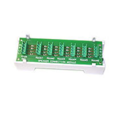 Leviton 48211-6A Leviton 48211-6A 1 x 6 Passive Audio Module; Structure Media Enclosure Mount, White
