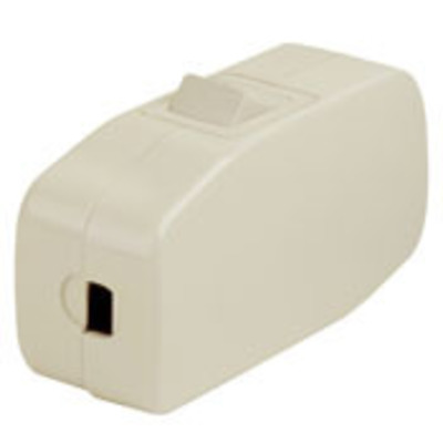 Leviton 5410 Leviton 5410 Feed Thru Appliance switch; 1-Pole, SPST, 125 Volt AC, 3 Amp, Brown