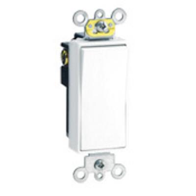 Leviton 5624-2W Leviton 5624-2W Decora® Commercial Rocker 4-Way AC Quiet Switch; 2-Pole, 120/277 Volt AC, 20 Amp, White
