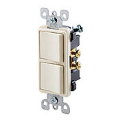 Leviton 5634-E Leviton 5634-E Decora® AC Combination Switch; 120/277 Volt AC, 15 Amp, 1-Pole, Grounding, Black