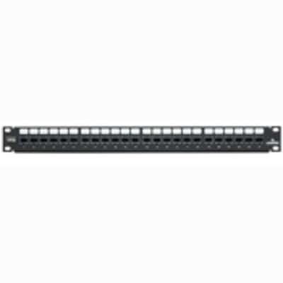 Leviton 69270-U24 Leviton 69270-U24 QuickPort® Category 6+ Patch Panel; 24-Port, 1-Rack Unit, Black