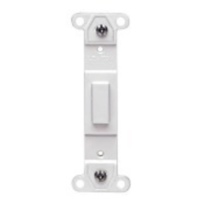 Leviton 80700-T Leviton 80700-T Decora® 1-Gang No Hole Blank Toggle Wallplate Adapter; Strap Mount, Plastic, Light Almond