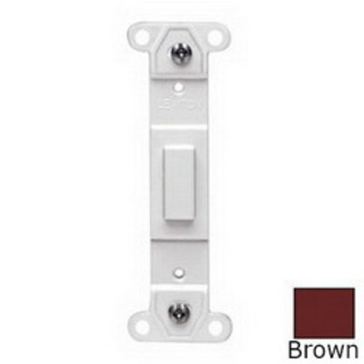 Leviton 80700 Leviton 80700 Decora® 1-Gang No Hole Blank Toggle Wallplate Adapter; Strap Mount, Plastic, Brown