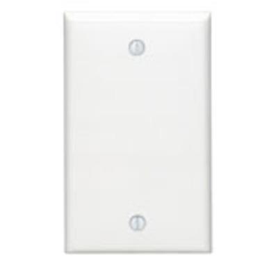 Leviton 80714-E Leviton 80714-E 1-Gang Standard-Size No Device Blank Wallplate; Box Mount, Thermoplastic Nylon, Black