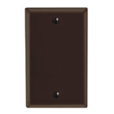 Leviton 85014 Leviton 85014 1-Gang Standard-Size No Device Blank Wallplate; Box Mount, Thermoset Plastic, Brown