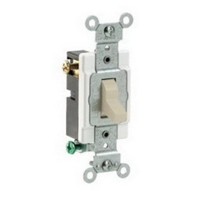 Leviton CS315-2I Leviton CS315-2I Commercial Toggle 3-Way AC Quiet Switch; 1-Pole, 120/277 Volt AC, 15 Amp, Ivory