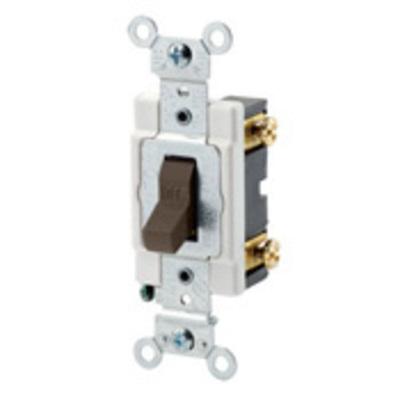 Leviton CSB1-20W Leviton CSB1-20W Commercial Toggle AC Quiet Switch; 1-Pole, 120/277 Volt AC, 20 Amp, White