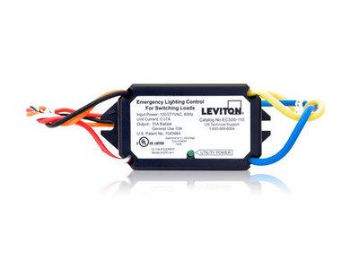 Leviton ECS00-110 Leviton ECS00-110 Emergency Power Control; 120 - 277 Volt AC, 10 Amp, Black