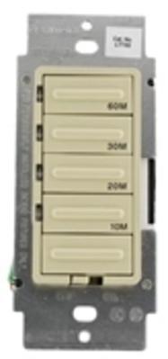 Leviton LTT60-1LI Leviton LTT60-1LI Decora® Preset Countdown Timer Switch; 60 min, Ivory