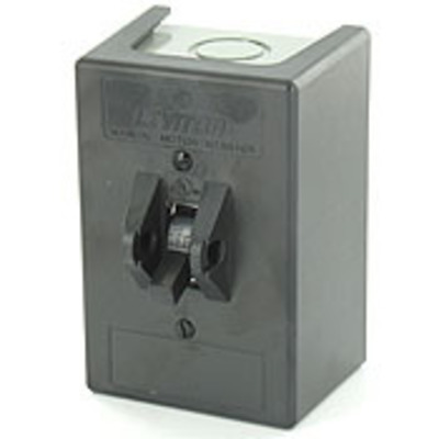 Leviton N1303-TDS Leviton N1303-TDS Powerswitch™ Enclosure With MS303-DS AC Manual Motor Starter Switch; 30 Amp, 600 Volt AC, TPST, 3 Pole
