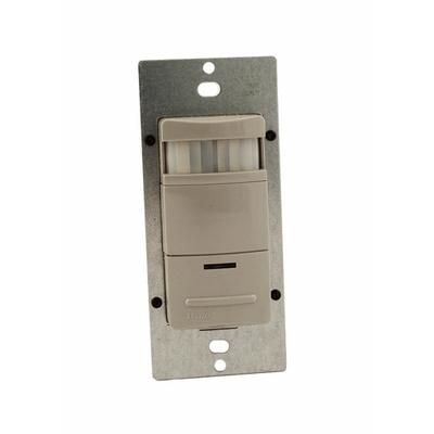 Leviton ODS10-IDG Leviton ODS10-IDG Decora® Passive Infrared Occupancy Sensor; 120/277 Volt AC, 2100 Sq ft, Automatic Off, Manual On, Gray