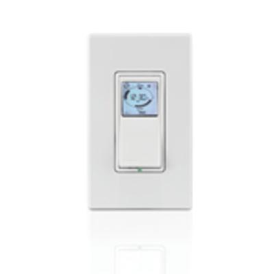 Leviton VPT24-1PZ Leviton VPT24-1PZ Vizia RF +® Decora® Indoor Timer Switch With Astronomical Clock ; 24 Hour, White/Ivory/Light Almond