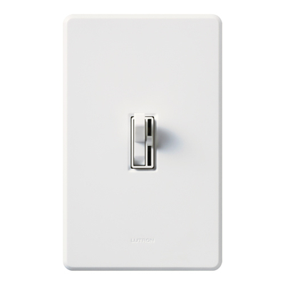 Lutron AY-10PH-WH Lutron AY-10PH-WH Ariadni® Single Pole Preset Slide Dimmer with Toggle Switch; 120 Volt AC, 1000 Watt, Incandescent/Halogen, White
