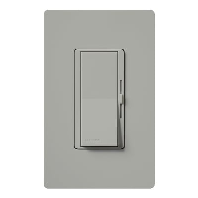 Lutron DV-603P-GR Lutron DV-603P-GR Diva® Single Pole 3-Way Preset Slide Dimmer with Paddle On/Off Switch; 120 Volt AC, 600 Watt, Incandescent/Halogen, Gray