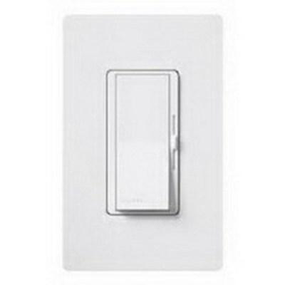 Lutron DV-603PH-WH Lutron DV-603PH-WH Diva® Single Pole 3-Way Preset Slide Dimmer with Paddle On/Off Switch; 120 Volt AC, 600 Watt, Incandescent/Halogen, White