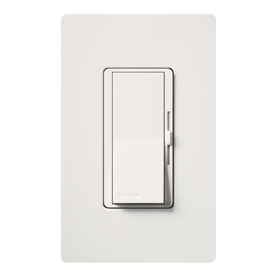 Lutron DVFSQ-FH-WH Lutron DVFSQ-FH-WH Diva® Quiet Three Speed Variable Fan Control; 120 Volt AC, 1.5 Amp, Single Pole/Three Way, Paddle Switch Turns On/Off, White