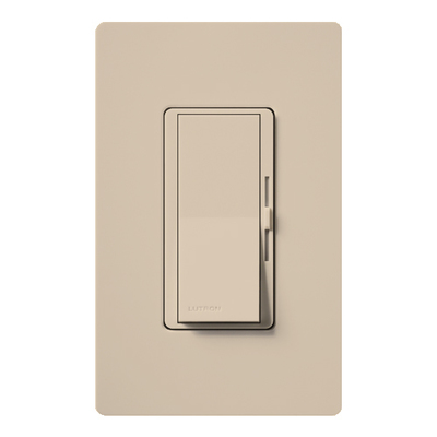 Lutron DVSCFSQ-F-TP Lutron DVSCFSQ-F-TP Diva® Satin Colors® 1-Pole 3-Way 3-Speed Fan control; 1.5 Amp, 120 Volt, Wall Box Mount, Plastic, Taupe