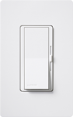 Lutron DVSTV-WH Lutron DVSTV-WH Diva Fluorescent 0-10 VDC Dimmer; single pole/3-way, Preset, 50 mA sink, 8 A load