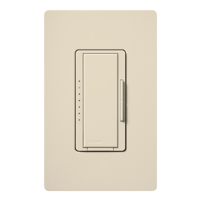 Lutron MA-600-LA Lutron MA-600-LA Maestro® Single Pole Digital Tap On/Off Fade Dimmer Switch; 120 Volt AC, 600 Watt, Incandescent/Halogen, Light Almond
