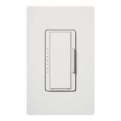 Lutron MA-600-WH Lutron MA-600-WH Maestro® Single Pole Digital Tap On/Off Fade Dimmer Switch; 120 Volt AC, 600 Watt, Incandescent/Halogen, White