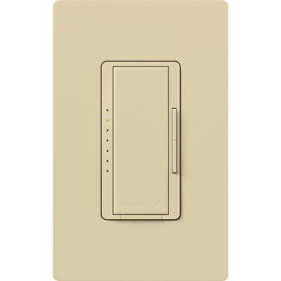 Lutron MRF2-600M-IV Lutron MRF2-600M-IV Maestro Wireless® Single Pole Tap On/Off Dimmer Switch with RF Receiver; 120 Volt AC, 600 Watt, Incandescent/Halogen, Ivory