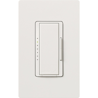 Lutron MRF2-600M-WH Lutron MRF2-600M-WH Maestro Wireless® Single Pole Tap On/Off Dimmer Switch with RF Receiver; 120 Volt AC, 600 Watt, Incandescent/Halogen, White