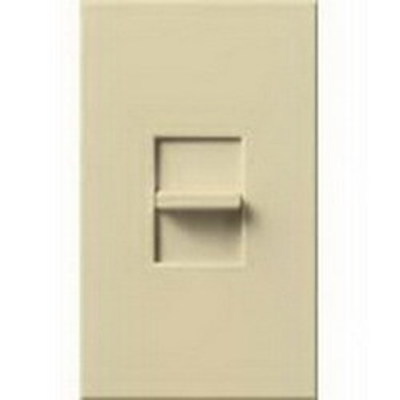 Lutron NTF-10-LA Lutron NTF-10-LA Nova-T® Single Pole Small Control Fluorescent Slide-To-Off Dimmer; 120 Volt, 1000 Watt, 16 Amp, Light Almond
