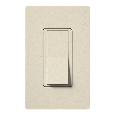Lutron SC-1PS-LS Lutron SC-1PS-LS Claro® Satin Color® General Purpose Switch; 1-Pole, 120/277 Volt, 15 Amp, Limestone