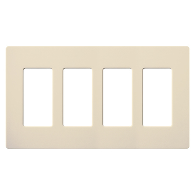 Lutron SC-4-ES Lutron SC-4-ES Satin Color 4Gang Wallplate