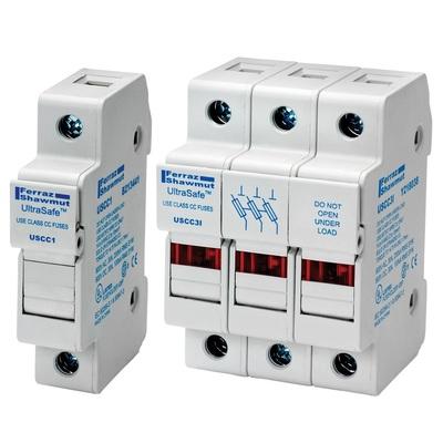 MERSEN FUSES USCC2I Ferraz Shawmut USCC2I Ultrasafe™ Modular Fuse Holder; 30 Amp, 600 Volt AC, DIN-Rail Mounting