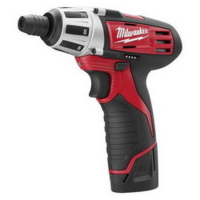 Milwaukee Electric Tool 2401-22 Milwaukee Tools 2401-22 M12™ Cordless Hex Screwdriver Kit; 12 Volt, 175 Inch-lb, 1/2 Inch Steel, 1/4 Inch Wood, 1/4 Inch Chuck, 7 Inch Length