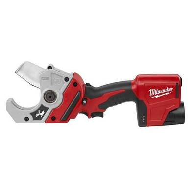 Milwaukee Electric Tool 2470-21 Milwaukee Tools 2470-21 M12™ Cordless PVC Shear Kit; 12 Volt, 2 Inch PVC to 2-1/8 Inch OD Capacity, 1900 Inch-lb Torque, M12™ Redlithium™ Lithium-Ion Battery, 14-3/8 Inch Length
