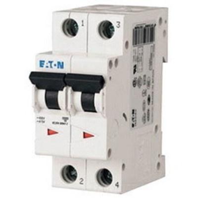 Moeller FAZ-C20/2-NA Eaton / Cutler Hammer FAZ-C20/2-NA Miniature Circuit Breaker; 20 Amp, 277/480 Volt AC, 125 Volt DC, 2-Pole, DIN Rail Mount