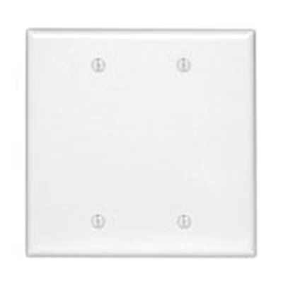 Mulberry Metal Products 86852 Mulberry 86852 Surface Mount Blank Wallplate, 5.5 x 5.5 inch, White Semi-Gloss, 2-Gang