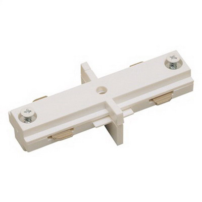 Nora Lighting NT-310S Nora NT-310S Straight Connector; Silver, For NT-300 and NT-2300 Series Single Circuit Track System