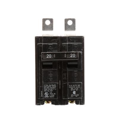 North American Circuit Breaker B220 Siemens B220 Molded Case Circuit Breaker; 20 Amp, 120/240 Volt AC, 2-Pole, Bolt-On Mount