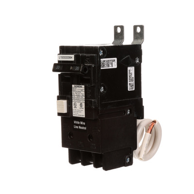 North American Circuit Breaker BF220 Siemens BF220 Ground Fault Molded Case Circuit Breaker; 20 Amp, 120/240 Volt AC, 2-Pole, Bolt-On Mount