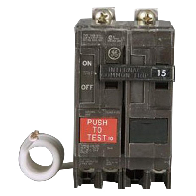 North American Circuit Breaker THQB2120GF GE Distribution THQB2120GF Ground Fault Molded Case Circuit Breaker; 20 Amp, 120/240 Volt AC, 2-Pole, Bolt-On Mount