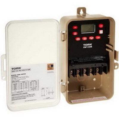 Nsi Industries Tork EW120B-C NSI EW120B-C Tork® EW Series 1 or 2 Channel Multi Volt On-Off Digital Time Switch; 30 Amp, 120/277 Volt, 50/60 Hz, 1-Pole, Plastic