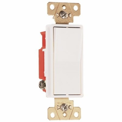 PASS & SEYMOUR WIRING DEVICES 2621-W Pass & Seymour 2621-W Specification Grade Paddle Decorator Switch; 1-Pole, 120/277 Volt AC, 15 Amp, White