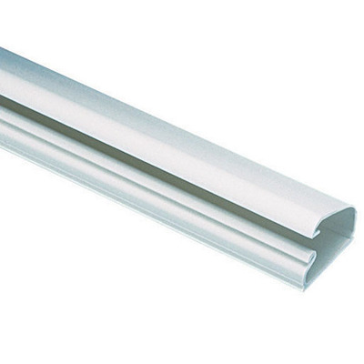 Panduit Wiring Products LD5IW10-A Panduit LD5IW10-A Pan-Way® Single Channel One-Piece Latching Surface Raceway; 10 ft Length x 1.010 Inch Width x 0.580 Inch Height, PVC, Office White