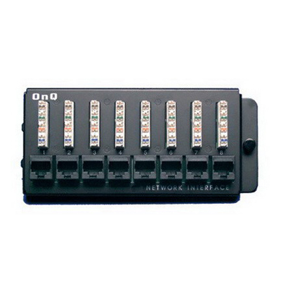 Pass & Seymour Wiring Devices 363486-01 On-Q 363486-01 110-Punchdown Category 5e RJ45 Network Interface Module; Enclosure Mount, 8-Port, 1-Rack Unit, White